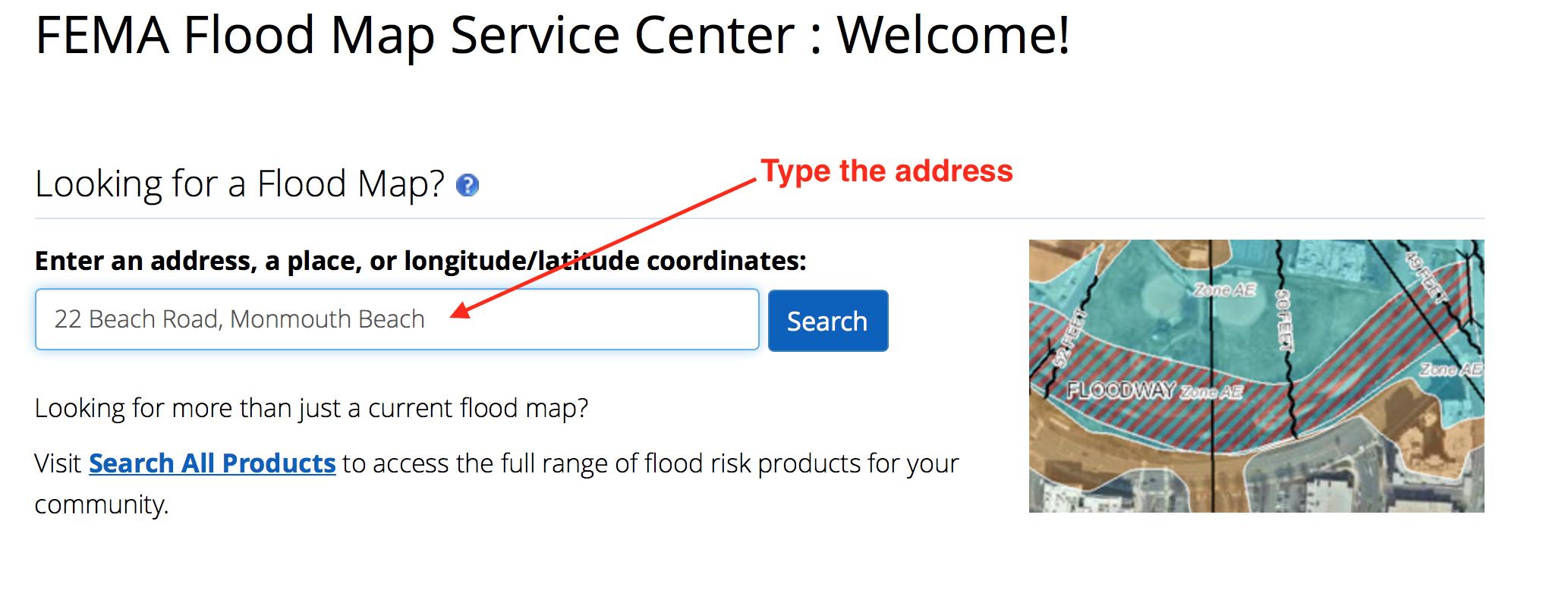 Which Flood Map Do I Use Borough Of Monmouth Beach - Fema map search
